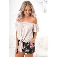 Baby Be Mine Off The Shoulder Top (Cream)