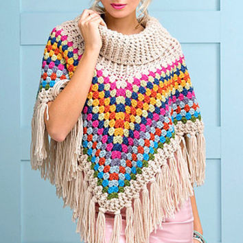 Babies/Girls/Women Boho Poncho Granny Square Poncho Chunky Poncho Afghan Poncho Oversized Poncho Cape Gift For Her  Baby to Adult Sizes