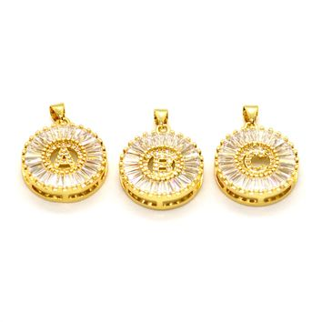 (mpen-1002-h10-1) Gold Plated Initials Pendant.