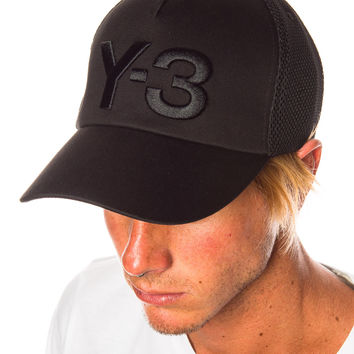 Y-3 Trucker Cap Black/Orange