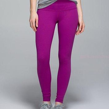 ONETOW Lululemon Solid Color Casual Gym Yoga Running Pants Trousers Sweatpants