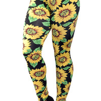 Sunflower Leggings Design 264