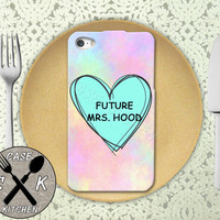 Future Mrs. Hood Pastel Pink Tumblr Candy Heart Cute 5sos Custom Rubber Tough Phone Case For The iPhone 4 and 4s and iPhone 5 and 5s and 5c