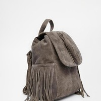 ASOS | ASOS Mini Suede Backpack With Tassles at ASOS
