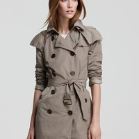 Burberry Brit Balmoral Raincoat with Hood | Bloomingdale's