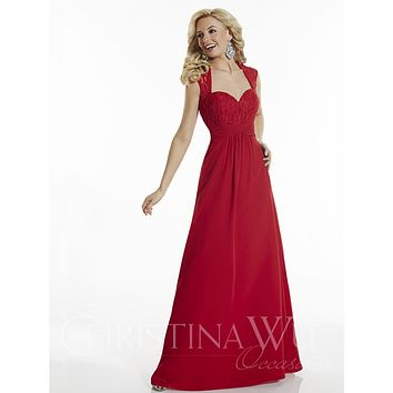 Christina Wu Occasions 22628 Full Skirt Sweetheart Neckline and Lace Bodice Bridesmaid Dress