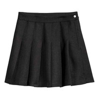 Pleated skirt - Black - Ladies | H&M GB