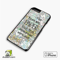 John Green Paper Towns Quotes Cover iPhone 6 plus Case Cover by Avallen
