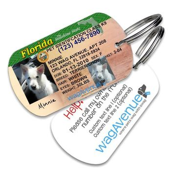 Florida Driver's License Pet Tag
