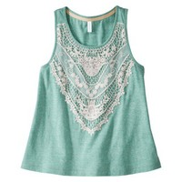 Xhilaration® Juniors Crochet Trim Tank - Assorted Colors
