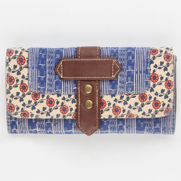 Daisy Print Wallet Blue Combo One Size For Women 23830924901