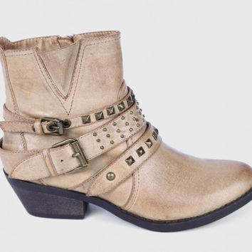 Report Footwear Kolton Ankle Boots in Stone Color Vegan Leather