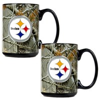 Pittsburgh Steelers 2-pc. Open Field Ceramic Mug Set