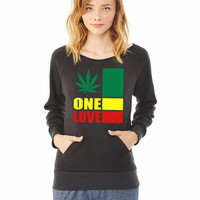 one love_ ladies sweatshirt