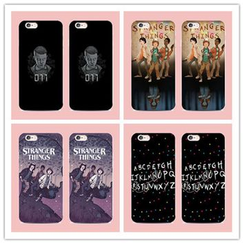 Hot TV Stranger things pattern cover case For Samsung Galaxy S6 S7 edge S3 S4 S5 for iphone 6 6S 7 Plus 4 4S 5 5S 5C phone case