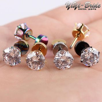 1pcs 3-7mm Zircon Ear Piercing Unique Design Gold Stainless Steel Twist Nose Lip Ring Nose Stud Body Piercing Jewelry For Women