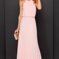 Bariano Melissa Peach Maxi Dress