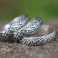 Sterling Silver Thumb Ring Sterling Silver Snakeskin Ring Boho Thumb Ring Sterling Silver Stacking Ring Silver Ring Band Silver Snake Ring
