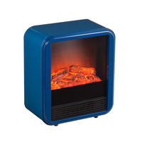 Glowbox Electric Fireplace in Blue