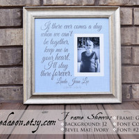 Sympathy Gift - In Memory of - Funeral Gift - Memorial Gift - Personalized Memorial Gift - In Tribute Frame - Memorializing Frame - 15x15