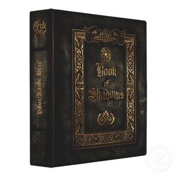 Book of Shadows 3 Ring Binder from Zazzle.com