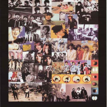 Beatles Iconic Montage 1962-1970 Poster 24x36