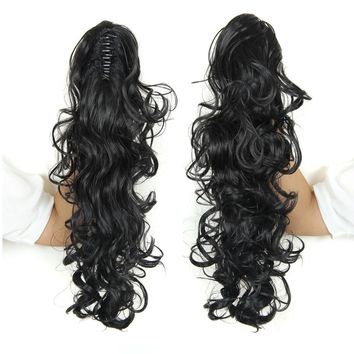 Hot Sale Women Hair Piece Ponytail Curly Claw Fake Hair Extension 20 Inches 160g