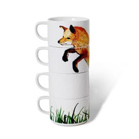 Foxy Stacking Mugs