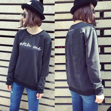 FW16 Autumn Embroidery Pullover Long Sleeve Casual Tops Hoodies [8511507911]