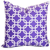 Purple Links Large Pillow