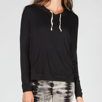 Full Tilt Womens Hi Low Hoodie Black  In Sizes