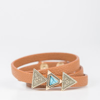 Triple Triangle Leather Wrap