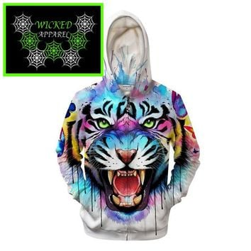Wicked Apparel Secret Tiger Hoodie By Pixie cold #603