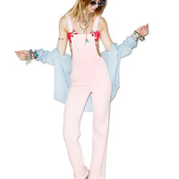 Wildfox Couture The Ladonna High-Rise Straight Overalls Rosebud