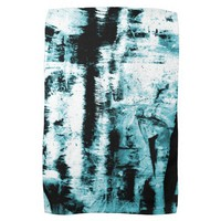 Blue Abstraction Illumination Tea Towel