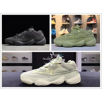 Hot Adidas Yeezy Boost Runner 500 Blush Desert Rat Kanye West 500 yung 1 Wave Runner 500 700 350 Running designer shoes yung-1 Athletic M?yeezy?a Sneakers