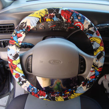 Steering Wheel Cover Avengers Captain America by julieshobbyhut
