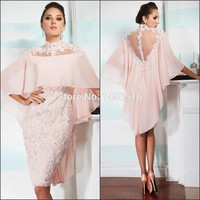 robe de cocktail PRD789 Sexy Women Special occasion Sheath Chiffon Lace Applique formal dress short cocktail dresses 2016