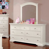 Exceptionally Fine Lined Wooden Dresser, White
