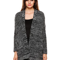 Houndstooth Long Sleeve Knit Cardigan Sweater