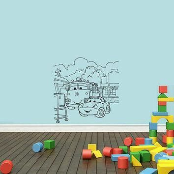 wall mural vinyl sticker decal machine eyes conversation landscape da1026
