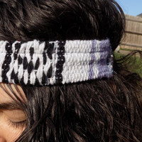 CLEARANCE Lavender Mexican Blanket Thick Headband - Free Shipping to Continental US