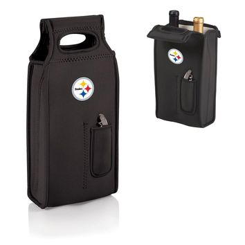 NFL Pittsburgh Steelers Samba Black Wine Tote W/corkscrew