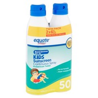Equate Kids Sunscreen Continuous Spray Broad Spectrum, SPF 50, 6 Oz, 2 Pk - Walmart.com