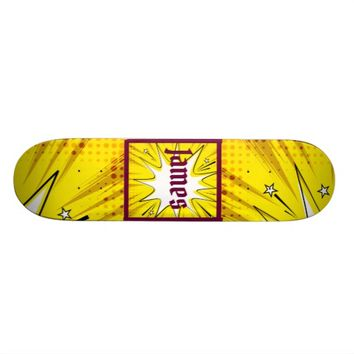 Abstract Comic Skateboard