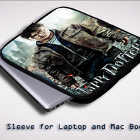 Deathly Hallows Harry Potter X0228 Sleeve for Laptop, Macbook Pro, Macbook Air (Twin Sides)