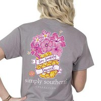 Simply Southern Live Simply Sweet Tee - Gray
