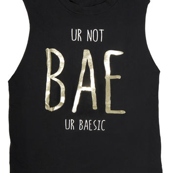 Bae/Basic Black Muscle Tank