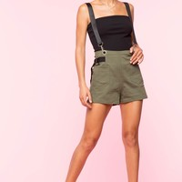 In Charge Contrast Suspender Shorts
