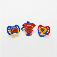 Superman Pacifier 3 Pack - Spencer's